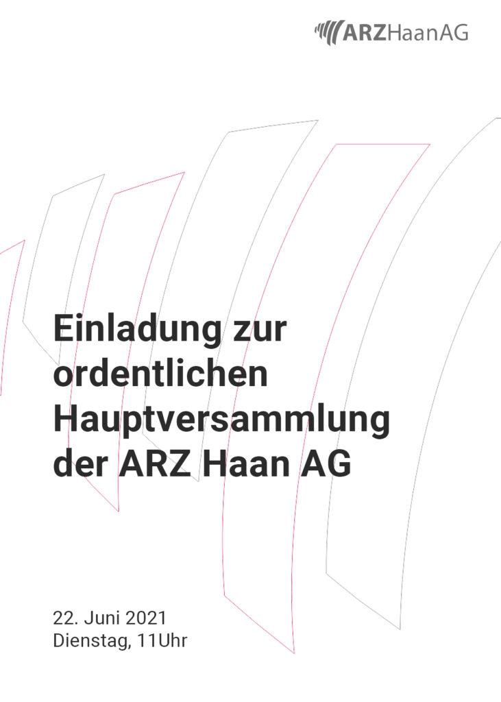 Investor Relation - Einladung zur Hauptversammlung 2021